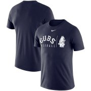 Wholesale Cheap Chicago Cubs Nike MLB Practice T-Shirt Navy
