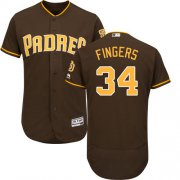 Wholesale Cheap Padres #34 Rollie Fingers Brown Flexbase Authentic Collection Stitched MLB Jersey