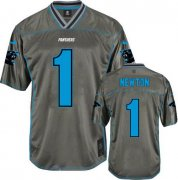 Wholesale Cheap Nike Panthers #1 Cam Newton Grey Youth Stitched NFL Elite Vapor Jersey