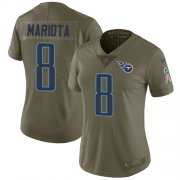 Wholesale Cheap Nike Titans #8 Marcus Mariota Olive Women's Stitched NFL Limited 2017 Salute to Service Jersey