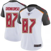 Wholesale Cheap Nike Buccaneers #87 Rob Gronkowski White Women's Stitched NFL Vapor Untouchable Limited Jersey