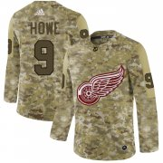 Wholesale Cheap Adidas Red Wings #9 Gordie Howe Camo Authentic Stitched NHL Jersey