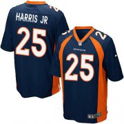 Wholesale Cheap Nike Broncos #25 Chris Harris Jr Blue Alternate Youth Stitched NFL New Elite Jersey
