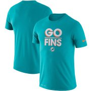 Wholesale Cheap Miami Dolphins Nike Sideline Local Performance T-Shirt Aqua
