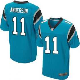 Wholesale Cheap Nike Panthers #11 Robby Anderson Blue Alternate Men\'s Stitched NFL New Elite Jersey