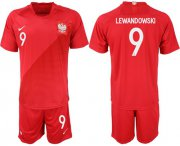 Wholesale Cheap Poland #9 Lewandowski Away Soccer Country Jersey