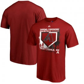 Wholesale Cheap Arizona Diamondbacks Majestic 2019 Spring Training Cactus League Big & Tall Base on Balls T-Shirt Scarlet