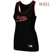 Wholesale Cheap Women's Nike Atlanta Braves Tri-Blend Racerback Stretch Tank Top Black