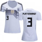 Wholesale Cheap Women's Germany #3 Plattenhardt White Home Soccer Country Jersey
