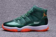 Wholesale Cheap Air Jordan 11 72-10 Custom Green/White-Yellow-Orange