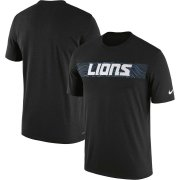 Wholesale Cheap Detroit Lions Nike Sideline Seismic Legend Performance T-Shirt Black