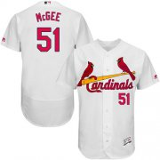 Wholesale Cheap Cardinals #51 Willie McGee White Flexbase Authentic Collection Stitched MLB Jersey