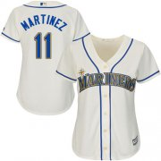 Wholesale Cheap Mariners #11 Edgar Martinez Cream Alternate Women's Stitched MLB Jersey