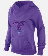 Wholesale Cheap Women's New York Giants Big & Tall Critical Victory Pullover Hoodie Purple