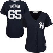 Wholesale Cheap Yankees #65 James Paxton Navy Blue Alternate Women's Stitched MLB Jersey