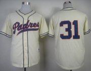 Wholesale Cheap Padres #31 Dave Winfield Cream 1948 Turn Back The Clock Stitched MLB Jersey