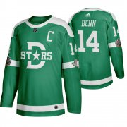 Wholesale Cheap Adidas Dallas Stars #14 Jamie Benn Men's Green 2020 Winter Classic Retro NHL Jersey