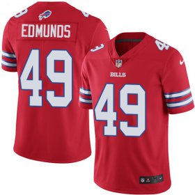 Wholesale Cheap Nike Bills #49 Tremaine Edmunds Red Men\'s Stitched NFL Limited Rush Jersey