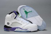 Wholesale Cheap WMS Jordan V Shoes Deep purple/White