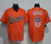 Wholesale Cheap Orioles #8 Cal Ripken Orange USA Flag Fashion Stitched MLB Jersey