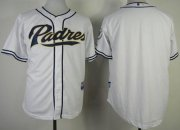 Wholesale Cheap Padres Blank White Cool Base Stitched MLB Jersey
