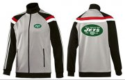 Wholesale Cheap NFL New York Jets Team Logo Jacket Grey