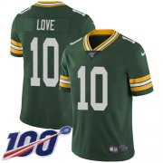 Wholesale Cheap Nike Packers #10 Jordan Love Green Team Color Youth Stitched NFL 100th Season Vapor Untouchable Limited Jersey