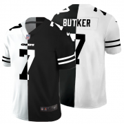 Cheap Kansas City Chiefs #7 Harrison Butker Men's Black V White Peace Split Nike Vapor Untouchable Limited NFL Jersey