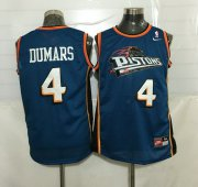 Wholesale Cheap Men's Detroit Pistons #4 Joe Dumars Teal Blue Hardwood Classics Soul Swingman Throwback Jersey