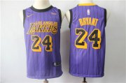 Wholesale Cheap Nike Los Angeles Lakers #24 Kobe Bryant 2019 City Edition Nike Swingman Jersey