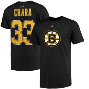 Wholesale Cheap Boston Bruins #33 Zdeno Chara Reebok Name and Number Player T-Shirt Black