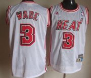 Wholesale Cheap Miami Heat #3 Dwyane Wade White Swingman Throwback Jersey