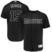 Wholesale Cheap Seattle Mariners #15 Kyle Seager Seager Majestic 2019 Players' Weekend Flex Base Authentic Player Jersey Black