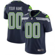Wholesale Cheap Nike Seattle Seahawks Customized Steel Blue Team Color Stitched Vapor Untouchable Limited Men's NFL Jersey