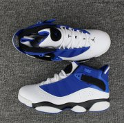 Wholesale Cheap Air Jordan 6 Rings Shoes French Blue/White-Black