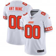 Wholesale Cheap Cleveland Browns Custom Nike White Team Logo Vapor Limited NFL Jersey