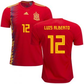 Wholesale Cheap Spain #12 Luis Alberto Home Soccer Country Jersey