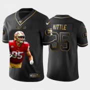 Cheap San Francisco 49ers #85 George Kittle Nike Team Hero 1 Vapor Limited NFL 100 Jersey Black Golden