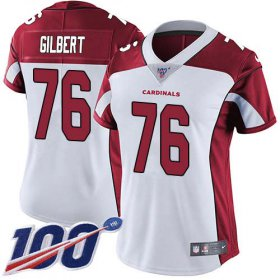 Wholesale Cheap Nike Cardinals #76 Marcus Gilbert White Women\'s Stitched NFL 100th Season Vapor Untouchable Limited Jersey