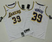 Wholesale Cheap Men's Los Angeles Lakers #39 Dwight Howard White 2019 Nike Swingman Printed NBA Jersey