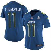Wholesale Cheap Nike Cardinals #11 Larry Fitzgerald Navy Women's Stitched NFL Limited NFC 2017 Pro Bowl Jersey