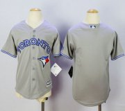 Wholesale Cheap Blue Jays Blank Grey Cool Base Stitched Youth MLB Jersey