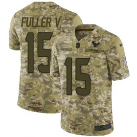 Wholesale Cheap Nike Texans #15 Will Fuller V Camo Youth Stitched NFL Limited 2018 Salute to Service Jersey