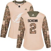 Cheap Adidas Lightning #2 Luke Schenn Camo Authentic 2017 Veterans Day Women's Stitched NHL Jersey