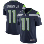 Wholesale Cheap Nike Seahawks #11 Gary Jennings Jr. Steel Blue Team Color Men's Stitched NFL Vapor Untouchable Limited Jersey