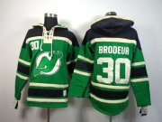 Wholesale Cheap Devils #30 Martin Brodeur Green St. Patrick's Day McNary Lace Hoodie Stitched NHL Jersey