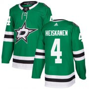 Wholesale Cheap Adidas Stars #4 Miro Heiskanen Green Home Authentic Youth Stitched NHL Jersey
