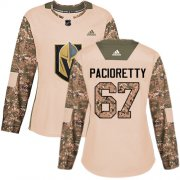 Wholesale Cheap Adidas Golden Knights #67 Max Pacioretty Camo Authentic 2017 Veterans Day Women's Stitched NHL Jersey