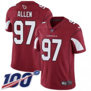 Wholesale Cheap Nike Cardinals #97 Zach Allen Red Team Color Men's Stitched NFL 100th Season Vapor Limited Jersey