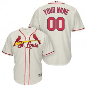 Wholesale Cheap St. Louis Cardinals Majestic Cool Base Custom Jersey Cream